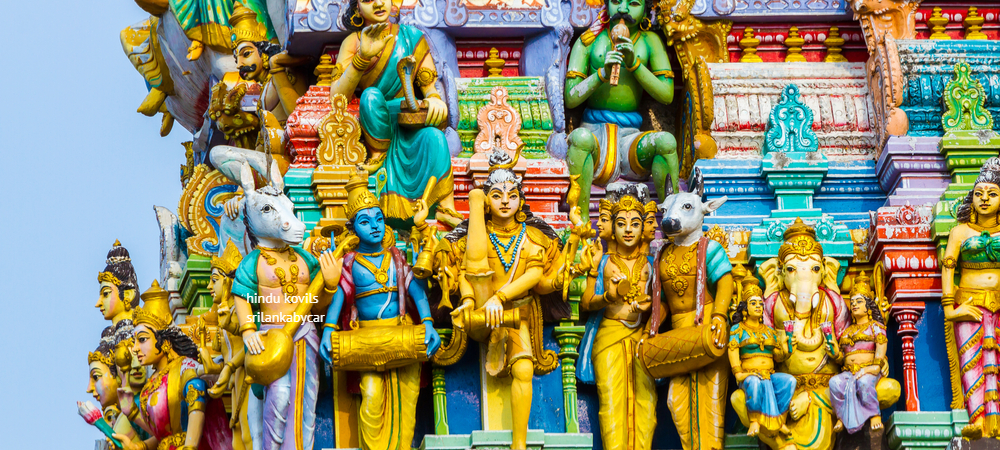 visiting Colorful hindu Kovils during Colombo city tour